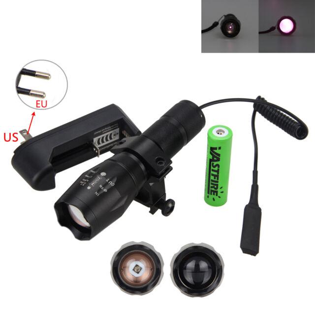 OSRAM 7W IR 940nm Infrared Night Vision LED Flashlight Hunting 18650 Gun Light