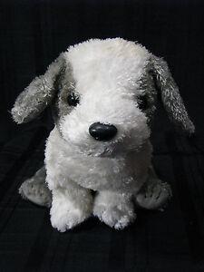d499c484870 Ty Beanie Buddies HERDER Grey   White Olde English Dog Soft Tysilk ...