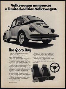 1973 Volkswagen Beetle >> Details About 1973 Volkswagen Beetle Limited Edition Car Vw The Sports Bug Vintage Ad