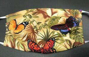 Butterfly Garden Face Mask Washable Reusable Double Layer Cotton Handmade Amish Ebay