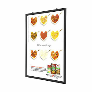 image is loading double sided black snap frame 24 x 30