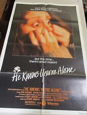 Vtg 1 sheet 27x41 Movie Poster He Knows You're Alone 1980 Don Scardino HORROR