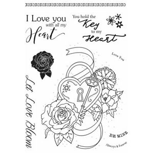 New Sweet Dixie Sharon Callis Clear Stamps Tattoo Romance Thorny Heart