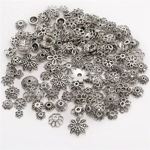 45g-about-150pcs-Mixed-Tibetan-Silver-Bead-Caps-Spacer-For-Jewelry-making-SO