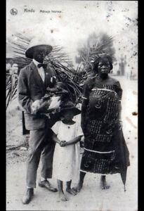 KINDU-CONGO-Belge-FAMILLE-riche-COUPLE-avec-ENFANTS-en-1931