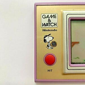 NINTENDO GAME & WATCH SNOOPY TENNIS PEANUTS - WIDE SCREEN 1982