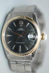 Rolex-Tudor-Large-Big-Rose-Oyster-Date-manual-winding-Watch-ref-7962-Nice-Ex