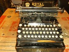 Vintage 1930s Royal Flat Bed Vintage Typewriter Glass Keys