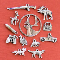 Hunting Charm Collection 12 Tibetan Silver Tone Charms Free Shipping E121