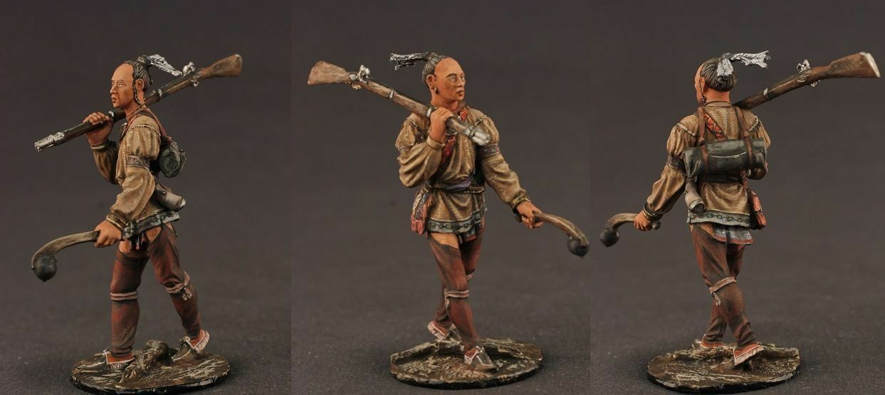 Tin toy soldiers ELITE painted 54 mm  Indian with a gun