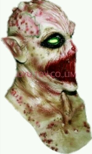 Professional Quality Adult Full Head Neck Zombie Latex Mask Party Halloween