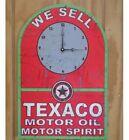 NEW Texaco Clock Motor Oil Spirit tin metal sign