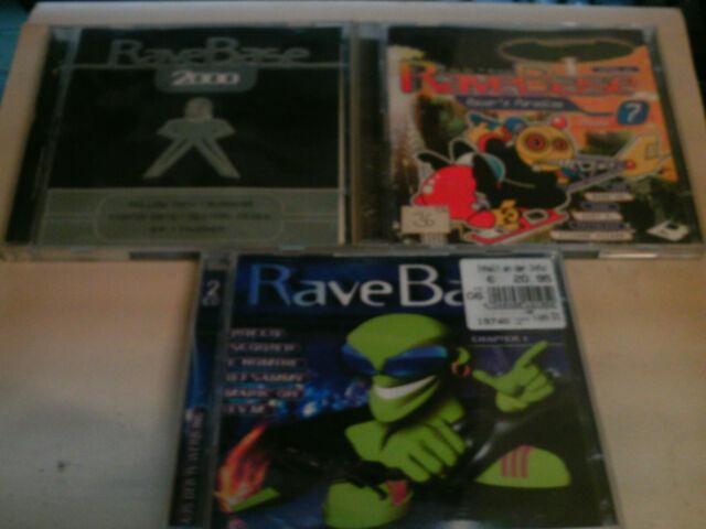 Rave Base  Vol.7,8,9,10,2000,2002/1    sehr   guter Zustand     Sammlung