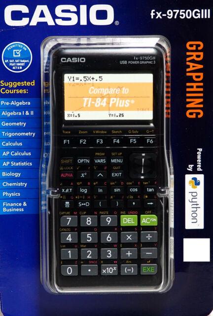 Casio fx-9750GIII Graphing Calculator - Black NEW