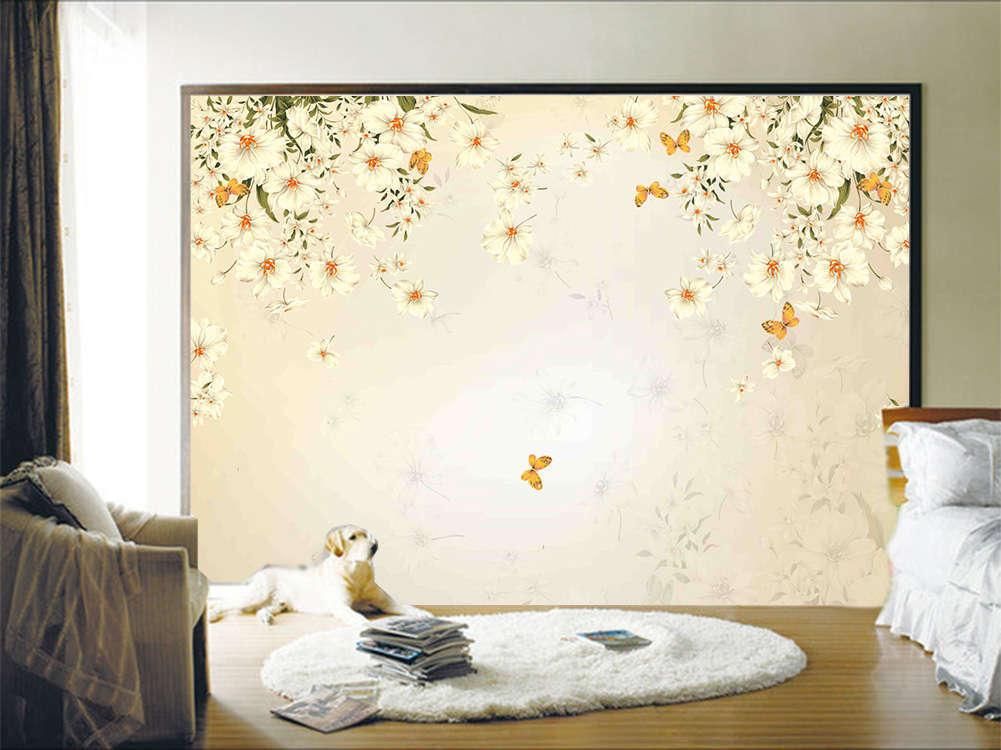 White Lissome Lotus 3D Full Wall Mural Photo Wallpaper Printing Home Kids Decor