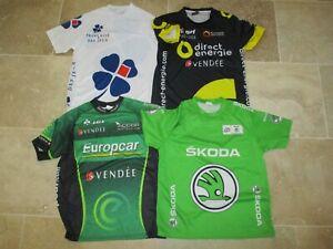 Lot-Maillot-cycliste-TOUR-de-FRANCE-FDJ-DIRECT-ENERGIE-EUROPCAR-shirt-trikot-S-M