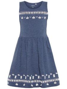 Mädchen Kleid blau Tutu Party Pretty kurzärmlig Schmetterling funklen
