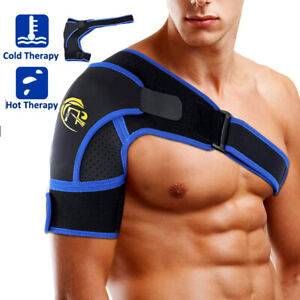 Shoulder-Brace-Support-Strap-Wrap-Belt-Dislocation-Neoprene-Pain-Relief-Blue-SFC