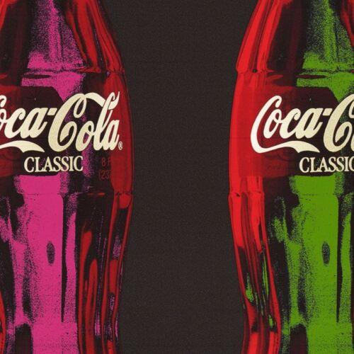 "32W/""x24H/"" COCA COLA POP ART I COKE OPEN HAPPINESS LIFE BEGINS HERE CANVAS"