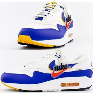 Details about Nike Air Max 1 SE WINDBREAKER Royal & Gold Men's Shoes Lifestyle Comfy Sneakers
