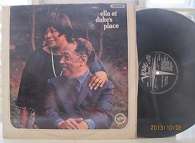 """Ella Fitzgerald & Ellington """"Ella at Duke's Place"""" UK Verve Lp SVLP 9119"""
