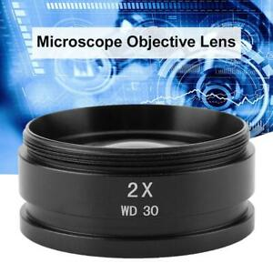 48mm-Mounting-Thread-2X-Stereo-Microscope-Objective-Auxiliary-Lens