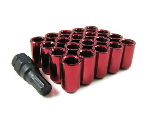 24 Pc Set Tuner Lug Nuts 12x1.25 Red For Infiniti Subaru