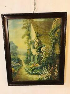 Print-Spring-Unlocks-Her-Flowers-Framed-glass-antique-C8pix4detail-MAKE-OFFER