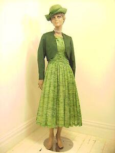 Original-Vintage-1950s-Betty-Carol-Light-Cotton-Day-Dress-With-Satin-Bolero