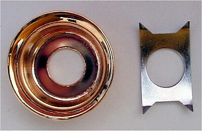 With Clip GOLD NEW Cup Jack Plate For Tele