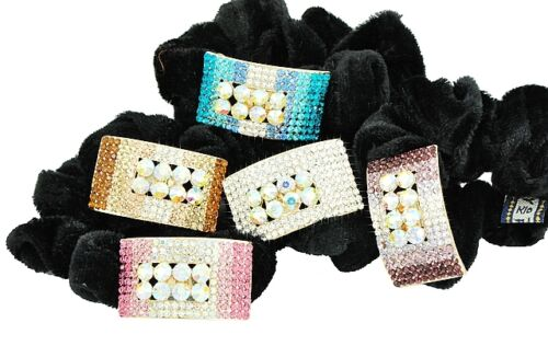 Pink Purple White Ladies Hair Scrunchies Head Wrap Elastic One Size  HA66