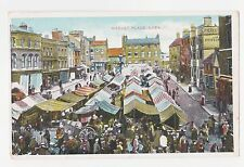 Leek,U.K.Market Place with Venders,Staffordshire,Printed,Used,1911