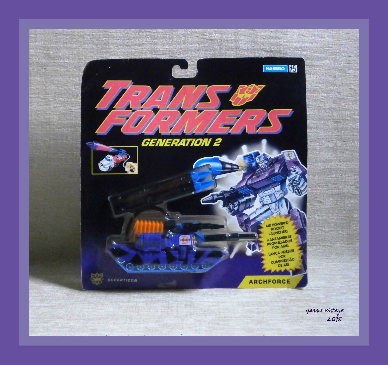 TRANSFORMERS   ARCHFORCE   MOSC HASBRO 1993 Vintage Mint on sealed card
