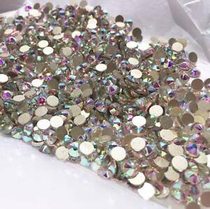 Swarovski-crystals-AB-flat-back-stones-gems-charms-for-nail-art-clothes-300-pcs