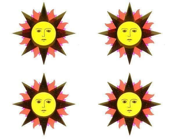 ~ Retired NLA Reflections Gold Sun Red Purple Yellow Mrs Grossman Stickers ~