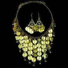 Bollywood Bauchtanz Belly Dance Schmuckset Halskette Kette Ohrringe Goldmünzen