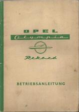 OPEL OLYMPIA REKORD  Betriebsanleitung 1958 Bedienungsanleitung Bordbuch  BA