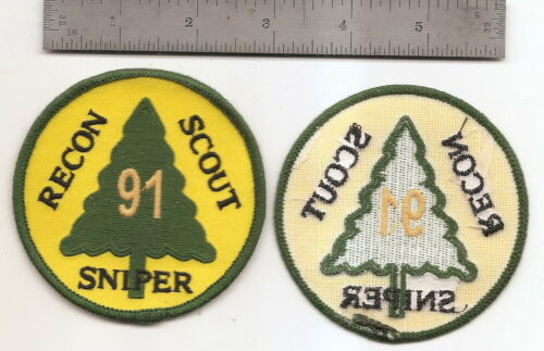#167  US ARMY  91ST RECON SCOUT SNIPER SCHOOL PATCH