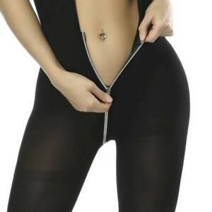 Women-039-s-Black-Lingerie-Zipper-Body-Stocking-Underwear-Bodysuit-Clubwear-Babydoll