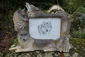 Mo0043 Figurine Statuette Famille Cadre Loup Louve Animal Sauvage Mb8xxxzc-07230817-319595363