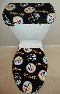 Image Is Loading NFL PITTSBURGH STEELERS Fleece Fabric Toilet Seat Cover
