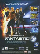 "Fantastic 4 ""Activision"" 2005 Magazine Advert #1306"