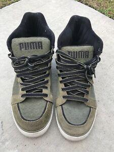 Men's Army Green Suede Puma High top