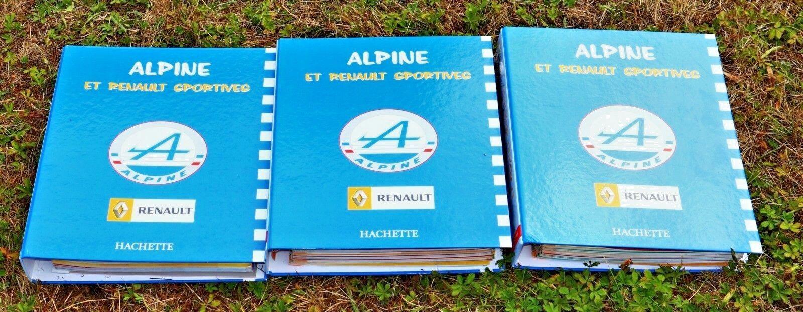 samling hachette 3 klassers complets 65 livrets Alpine et Renault Sports