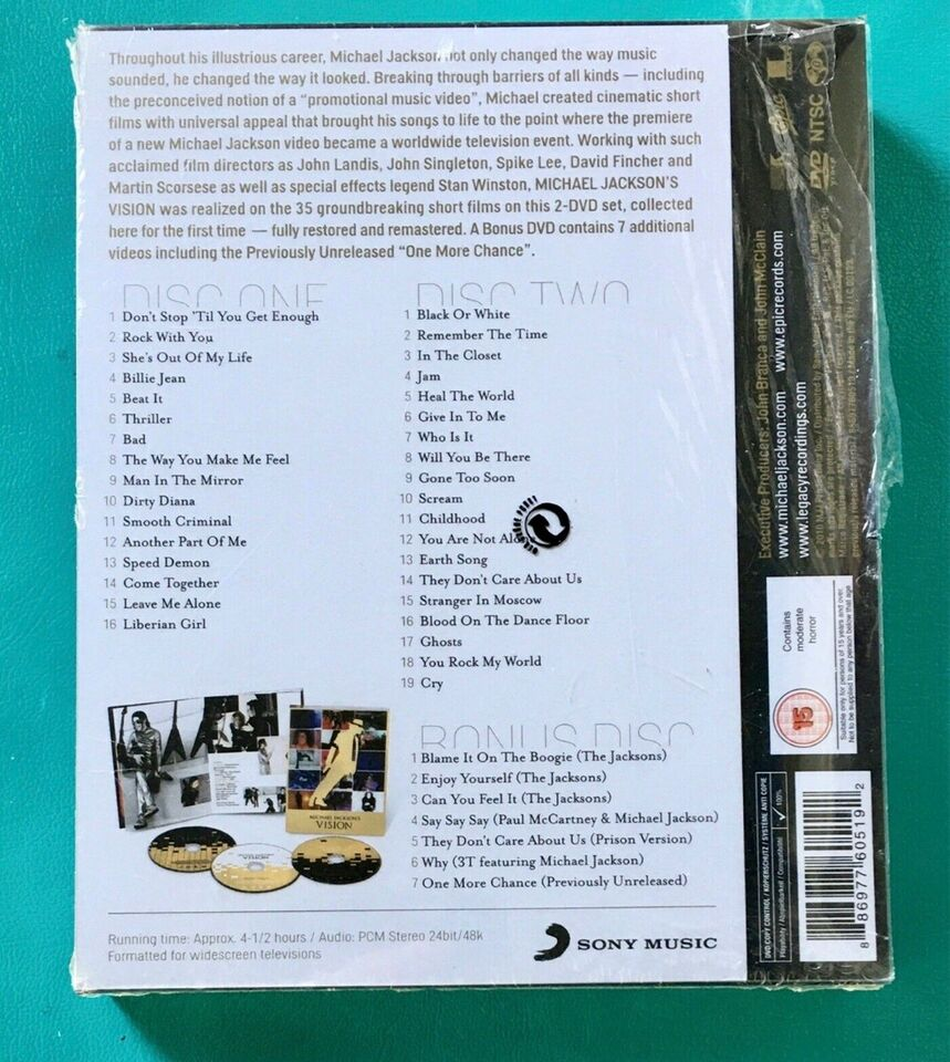 Michael Jackson's Vision (3DVD) , DVD, musical/dans
