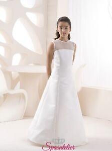 Vestiti Da Sposa Ebay.Abito Da Sposa Simile Per Bambina Damigella Matrimonio Vestito