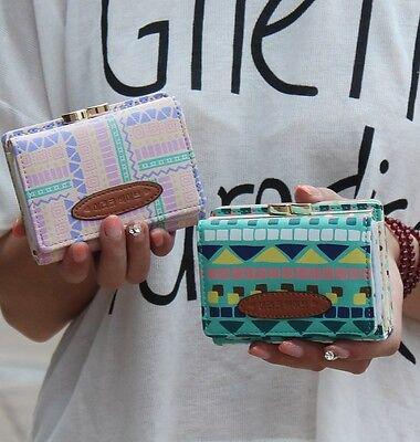 Blend Check Clutch Checkbook Money Clip Change Bag Women Purse Handbag Wallet