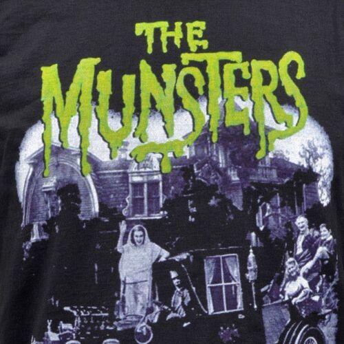 Señoras negras de manga larga superior satisfacer The Munsters Vintage B-Movie Horror Vampiro