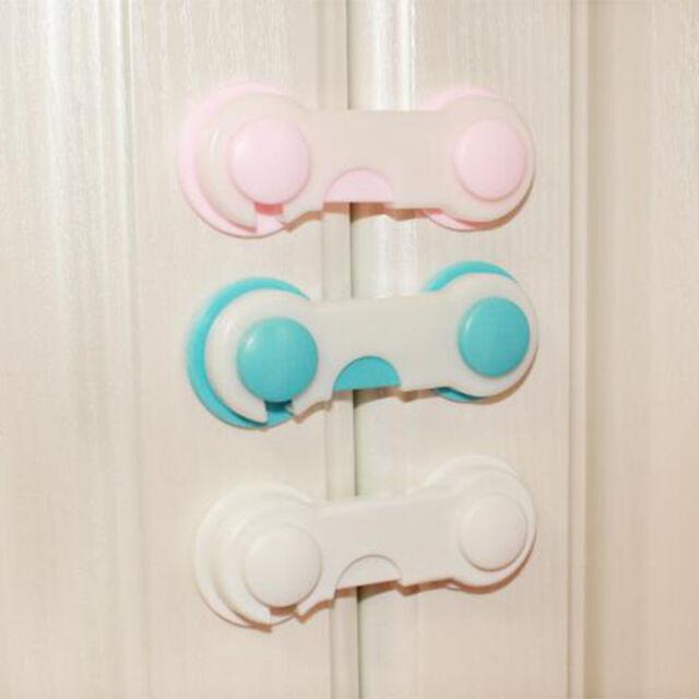 5//10X Kids Child Baby Safety Cabinet Door Fridge Drawer Cupboard Catch Lock Clip