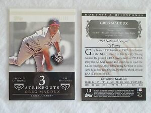 Pick-1-Card-from-list-Greg-Maddux-2007-Topps-Moments-amp-Milestones-13-150
